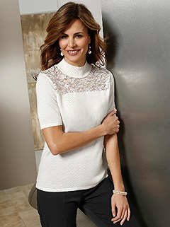 Sequin Lace Insert Sweater product image (428094.OFWH.1.1_WithBackground)
