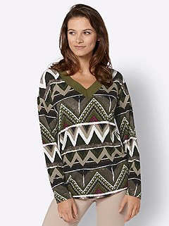 Multi Chevron Print Top product image (428106.OLMU.3.9_WithBackground)