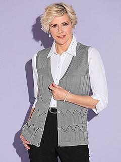Ajour Knit Pattern Vest product image (428274.GYMO.1.1S)
