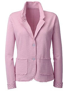 Polka Dot Accent Blazer product image (428348.RS.1.1_WithBackground)