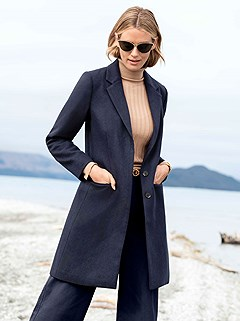 Elongating Lapel Collar Jacket product image (428356.NV.1.M)