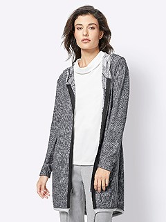 Long Reversible Hooded Cardigan product image (428418.GYPA.4.12_WithBackground)