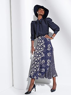 Mix Print Midi Skirt product image (428448.BLPA.3.1_WithBackground)