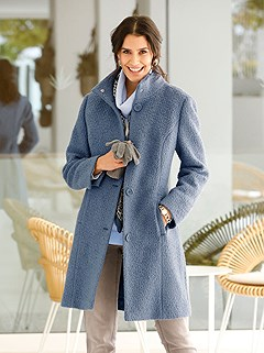 Stand Up Collar Wool Coat product image (428564.BL.1.M)