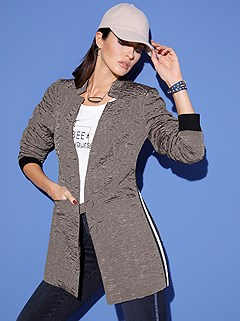 Crushed Look Long Jacket product image (428658.TP.1.1_WithBackground)