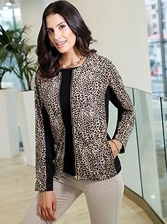 Leopard Zip Up Cardigan product image (428684.CGMU.P)