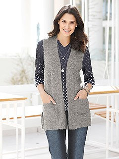 Textured Knit Vest product image (428749.LGMO.1.1_WithBackground)