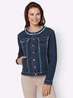 Frayed Denim Jacket product image (428802.BLUS.4.1_WithBackground)