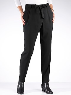 Tie Belt Pleated Pants product image (428805.BK.1.11_WithBackground)