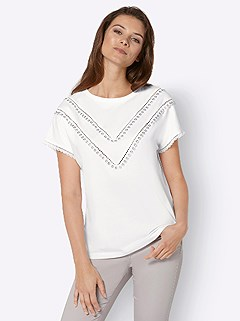 Crocheted Lace Accent Top product image (428810.EC.3.1_WithBackground)
