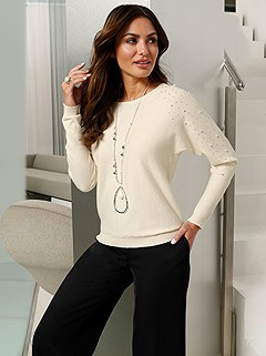 Pearl Detail Sweater product image (428941.IVO.1.P)