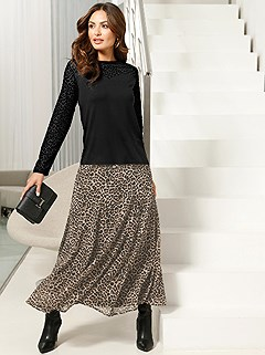 Leopard Maxi Skirt product image (428943.BBPR.1.1_WithBackground)