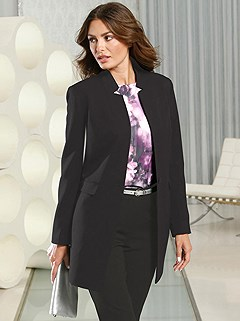 Single Button Long Blazer product image (429000.BK.2s)