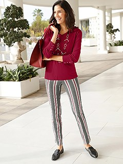 Multi Stripe Pants product image (429299.BKST.1.11_WithBackground)