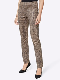 Suede Look Snake Print Pants product image (429385.BEPR.4.11_WithBackground)