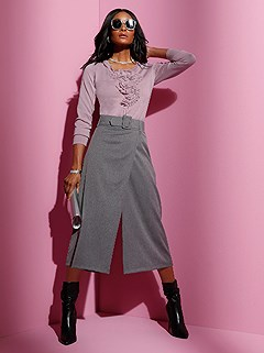 Wrap Look Culotte Pants product image (429418.GYMO.1.1_WithBackground)