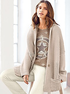 Single Button Knitted Cardigan product image (430289.LTBE.3.P)