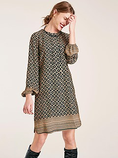 Mosaic Patterned Dress product image (430294.CAMU.1.1_WithBackground)