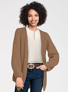 Ribbed Open Style Cardigan product image (430401.CG.1S)