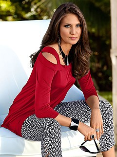Strappy Carmen Neckline Top product image (430799.RD.1.P)