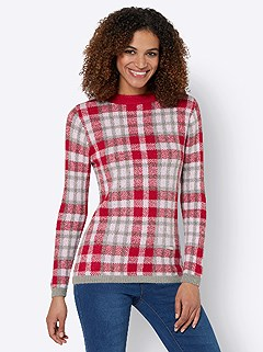 Cozy Plaid Sweater product image (431467.GYRD.3.1_WithBackground)