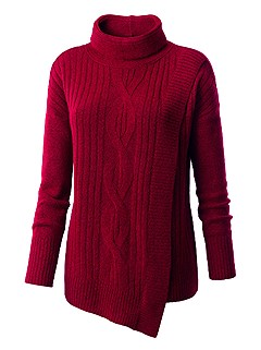 Asymmetrical Hem Sweater product image (432468.RD.1.1_WithBackground)