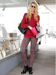 Checkered Pattern Leggings product image (432470.RDBK.4.18_WithBackground)