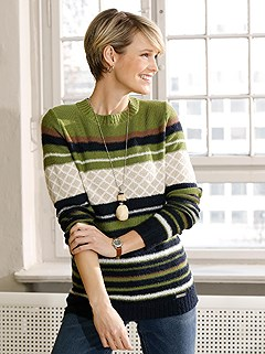 Knitted Pattern Mix Sweater product image (434840.GRST.1.1_WithBackground)