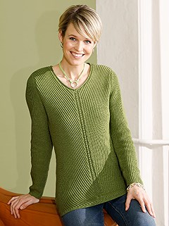 Ribbed V-Neck Sweater product image (434841.GR.1.1_WithBackground)