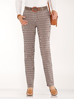 Checkered Stretch Pants product image (434941.BRCK.1.1_WithBackground)