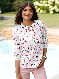 Butterfly Print Blouse product image (436835.WHPA.2.6_WithBackground)