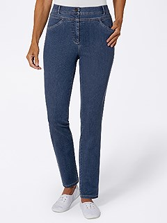 Shaped Waist Stretch Jeans product image (437344.BLUS.4.1_WithBackground)