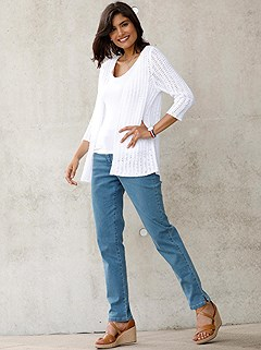 Open Knit Cardigan product image (437580.WH.2.1_WithBackground)
