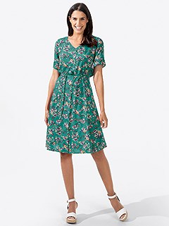 Floral Tie Waist Dress product image (438303.EDPA.3.1_WithBackground)