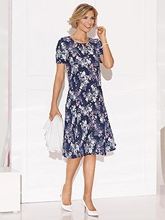 Floral Cutout Neckline Dress product image (438324.HYDR.1.8_WithBackground)