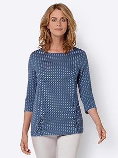Patterned Eyelet Detail Top product image (438516.DEMU.3.1_WithBackground)