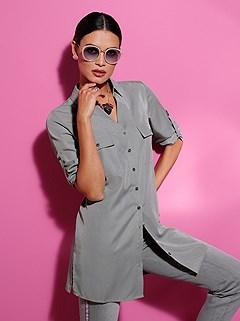 Button Up Tunic product image (438724.STGY.1M)