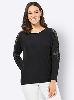 Lace Accent Sweater product image (439038.BK.4.1_WithBackground)