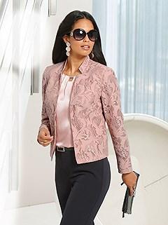 Floral Lace Blazer product image (439046.POWD.1M)