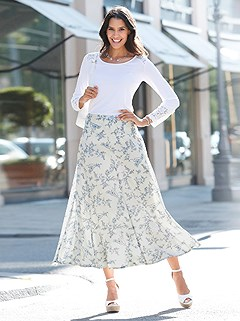 Floral Flare Maxi Skirt product image (439364.LBPR.1.1_WithBackground)