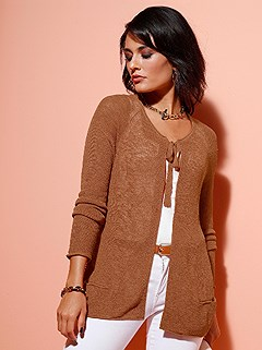 Rolled Edge Cardigan product image (439489.CG.1.1_WithBackground)
