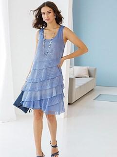 Sleeveless Ruffled Dress product image (439598.LB.1.1_WithBackground)