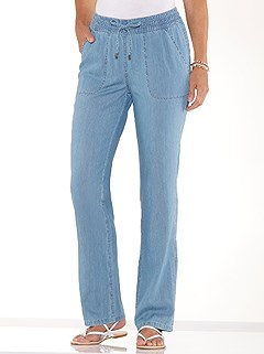 Drawstring Waist Jeans product image (439644.FADE.3.1_WithBackground)