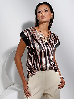 Patterned Satin Blouse product image (439718.BKMU.1.1_WithBackground)