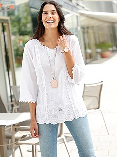 Airy Lace Detail Blouse product image (439880.WH.1.1_WithBackground)