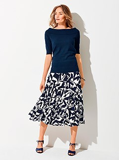 Printed Midi Skirt product image (440158.BLMU.4.8_WithBackground)