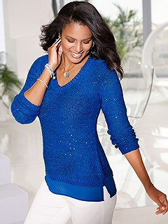 Shimmering Sequin Sweater product image (441023.RY.1.1_P)