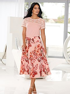 Flowy Floral Midi Skirt product image (441038.POMU.1.1_WithBackground)