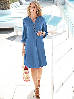 Casual Button Detail Dress product image (441099.BL.4.1P)
