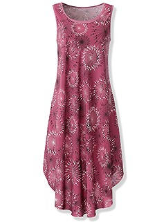 Dandelion Print Dress product image (441100.BYPR.1.1_WithBackground)